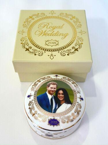 2018 ROYAL WEDDING of HARRY & MEGHAN Fine China TRINKET JEWELRY BOX in Gift Box