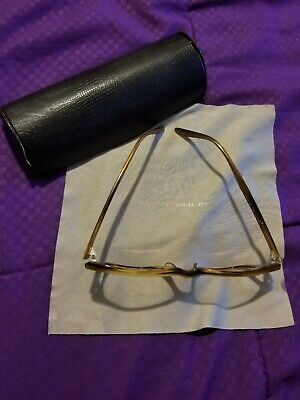 barton perreira eyeglasses BROWN USED WITH BLACK CASE women and men (Barton And Perreira)