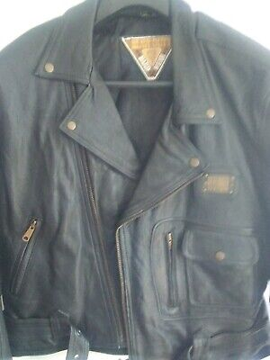 HEAVY DUTY LEATHER MOTORCYCLE JACKET D POCKET LARGE FITTING