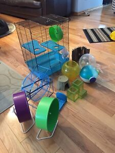 Hamster cage and plenty accessories