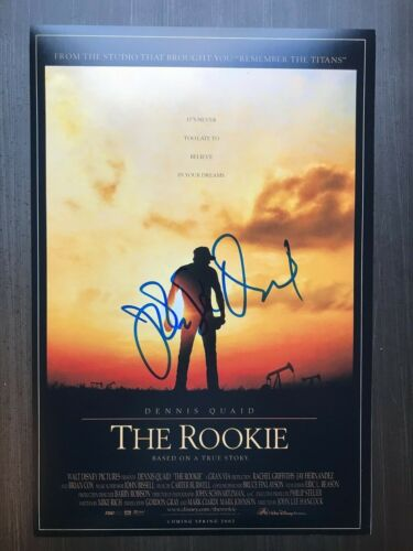 * JOHN LEE HANCOCK * signed 12x18 photo poster * THE ROOKIE DIRECTOR * PROOF * 2