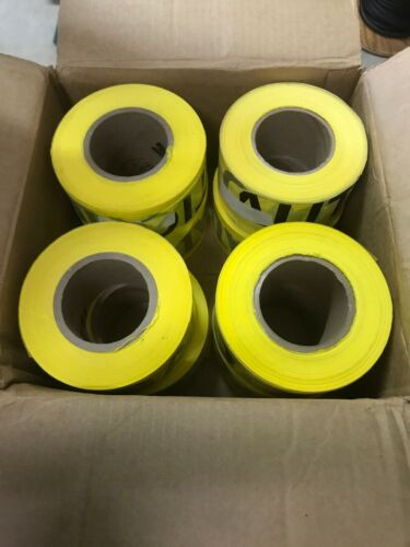 8 Yellow Reflective CAUTION Tape, 1000 Foot Rolls, 2 Mil Rol