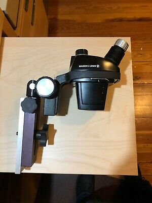 Bausch Lombhughes Mcw552 0.7x-3x Microscope Head And Stand