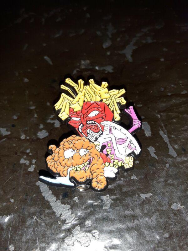 Crazy Aqua Teen Hunger Force Enamel Pin Cartoon ! Brand new in bag