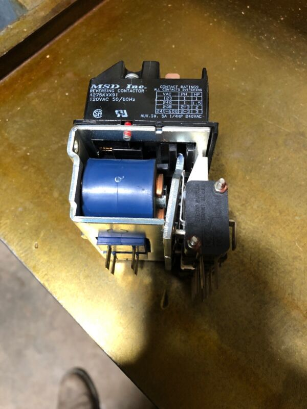 MSD Inc  Reversing Contactor A275KXX91 120vac , used