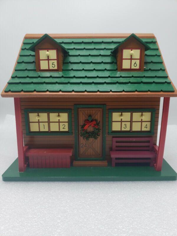 Christmas Wood Cabin Birdhouse Advent Calendar Plow & Hearth