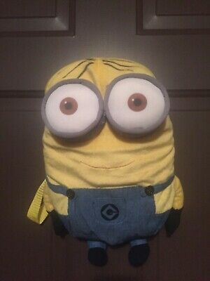 Two Eyed Minion (Despicable Me 2 Two Eye Minion 14 inch Plush Backpack NWT - Purse , daycare)