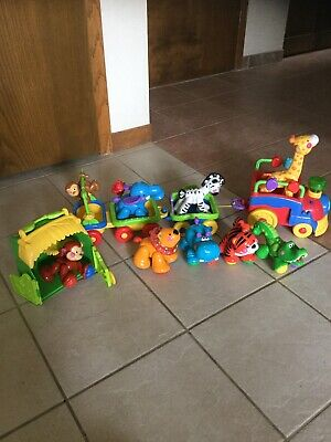 Fisher Price Amazing Animals Sing & Go Choo Train w/9 Animals And Monkey House