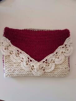 Hipster clutch purse knitted