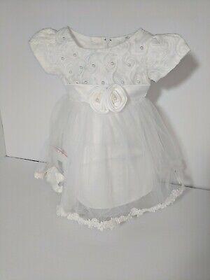 6-9month Kid Baby Girls White Party Christmas Birthday Dedication Princess Dress