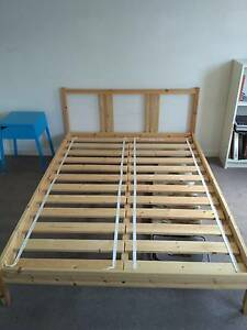 DOUBLE BED FRAME and Bedside Matraville Eastern Suburbs Preview