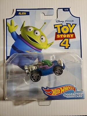 Hot Wheels Disney CHARACTER CARS PIXAR TOY STORY 4 ALIEN 3/8