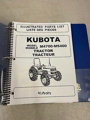 Kubota Illustrated Parts Lists Model M4700 M5400 Manual Catalog French English