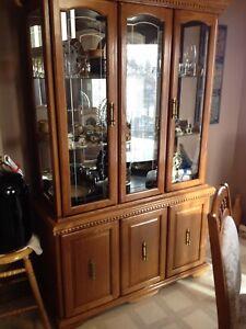 Oak chins cabinet