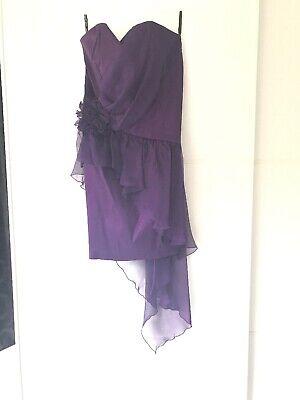 Jessica McClintock Sleeveless Dress, US10/UK14, Purple/Aubergine