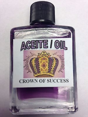 MYSTICAL / SPIRITUAL OIL (ACEITE) FOR SPELLS & ANOINTING 1/2 OZ CROWN OF SUCCESS