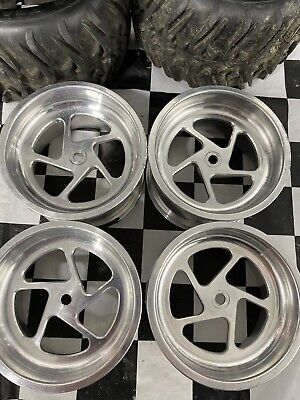 Custom Alloy 14mm Rc Truck/car Wheels With Tires Used!