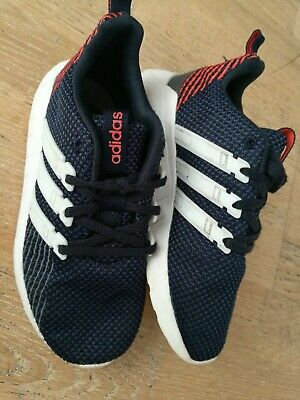 Adidas Questar Flow Trainers Shoes Lace Up Breathable Everyday Knit Size 1