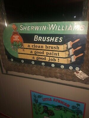 Original Sherman Williams  metal paint sign 40s?  Paint sign advertising