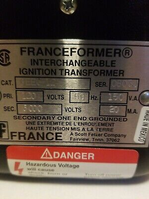 Franceformer Interchangeable Ignition Transformer 6eeg-12 New No Box.