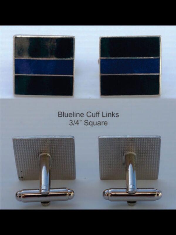 THIN BLUE LINE HEROES CUFF LINKS  CUFFLINKS POLICE