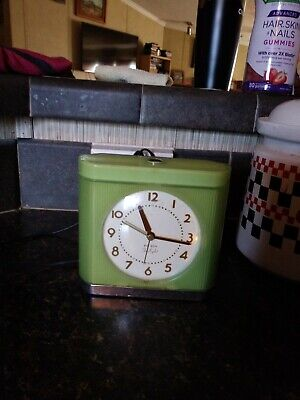 Vintage Westclox Big Ben Twilight Alarm Clock Night Light Model Green Working