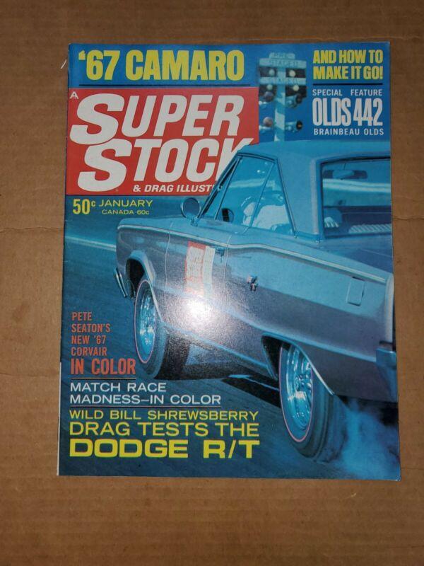 Jan 1967 Super Stock & Drag Illustrated magazine Dodge Coronet R/T test