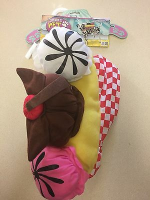 Ice Cream Sundae Dog Costume Medium](Cream Costume)