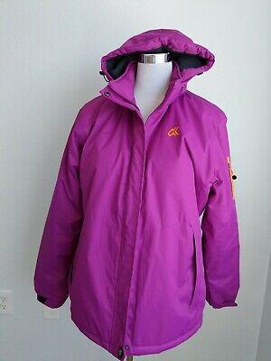 Outdoorsport Lightweight Hooded Purple Waterproof Snowboard Ski Jacket, Size L