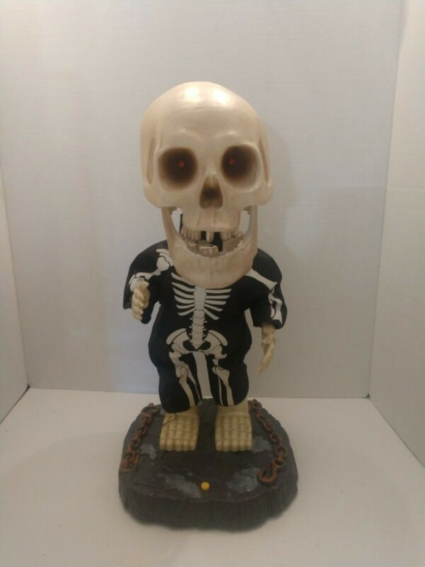 Gammy Halloween Big Head Animated Singing Dancing Skeleton Needs Work