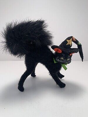 Vintage Annalee Halloween Black Cat With Wizard Hat