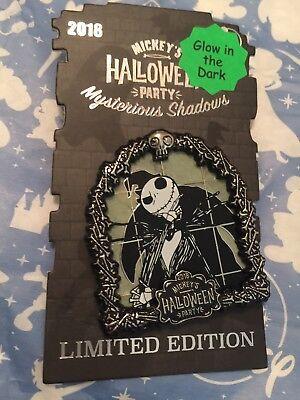 Disney 2018 MICKEY HALLOWEEN PARTY Mysterious Shadows Jack Skellington PIN AP - Jack Disney Halloween