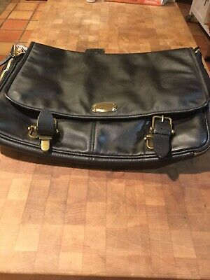 $850.00 SAMSONITE BLACK LABEL RESORT UMBRIA LEATHER MESSENGER BAG SALE!