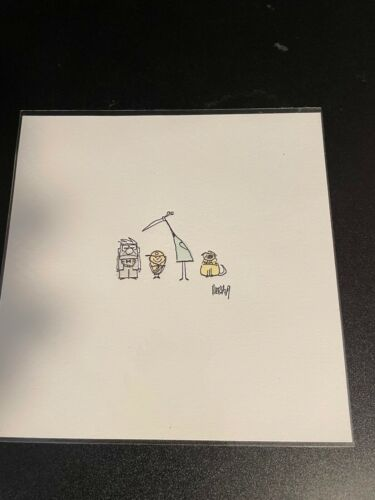 """7"""" X 7"""" LIMITED EDITION PRINT - RICKY NIERVA FOR UP! THE MOVIE PIXAR"""