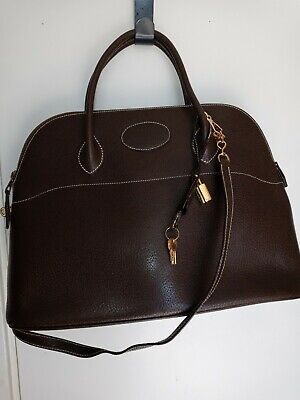 Isaac Reina Lrg Vint leather locking Bag