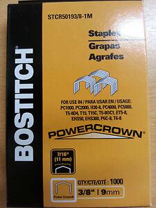 1,000 Stanley Bostitch STCR5019 3/8 9mm Staples