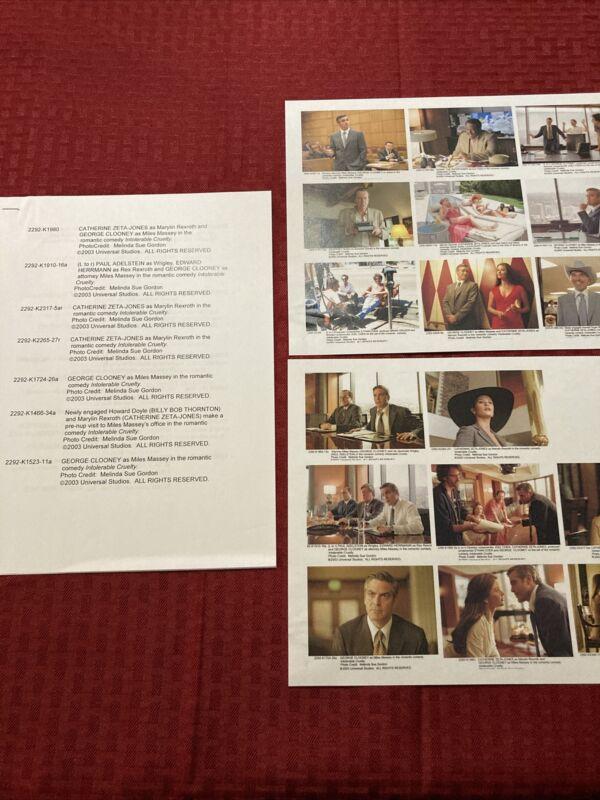 Intolerable Cruelty Press Photo Guide 2003 George Clooney Catherine Zeta-Jones