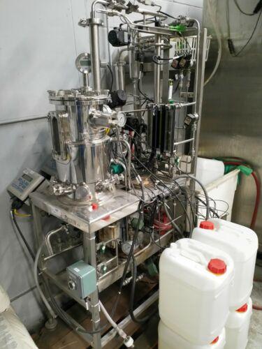 LSL BioLafitte 15 Liter Jacketed Bioreactor Stainless Steel Fermentation System