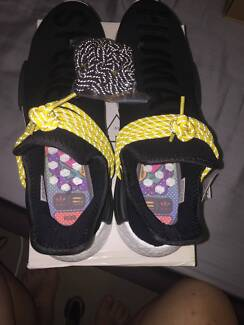 Adidas x Pharrell Williams NMD Hu Human Races Black SIZE 10 NEW!!