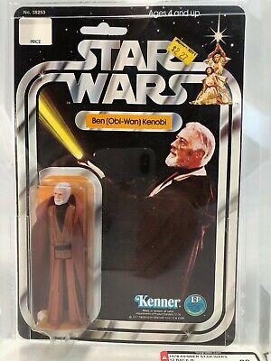 BEN KENOBI MOC 12 Back B MOC AFA 80 1978 Kenner vintage Star Wars