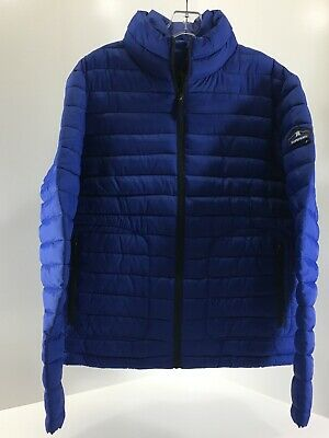 Superdry Men's Long Sleeved Double Zip Fuji Coat W Pockets Cobalt XL NWT @