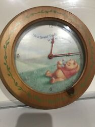 Disney Store Winnie The Pooh Simply Pooh 11 Wall Clock Wood Grand Afternoon
