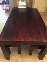 Wooden Dinning Table w/ bench seats Bangor Sutherland Area Preview