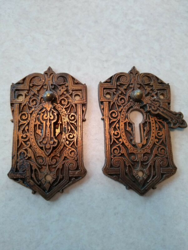 Vintage Escutcheon Pair