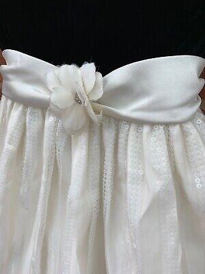 Cinderella Age 5 Black Velour Pageant Dress Sequins Long Wedding Tutu Net