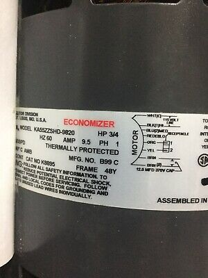Emerson Replacement 48y Frame Blower Motor 34 Hp Ka55shd9820