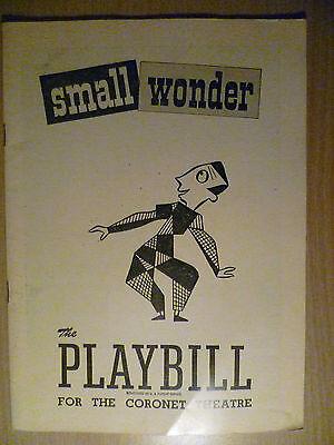 .1948 PlayBill Coronet Theatre Programme: SMALL WONDER, 8 Novenber