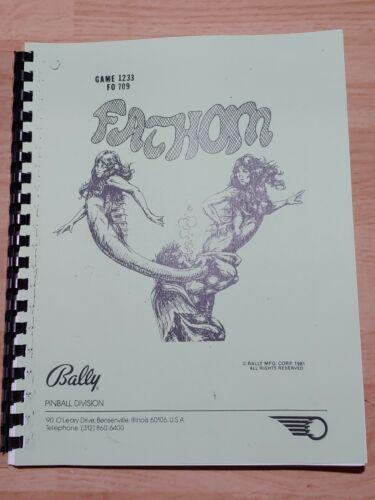 Bally Fathom Pinball Machine Manual & Schematics 16-50020-101