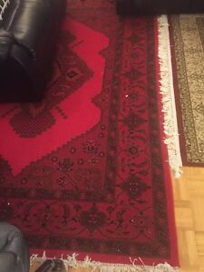 Area Rug Red Color