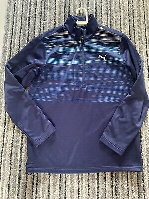 Mens Puma Long Sleeve Blur Golf Top Medium